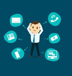businessman stress pressure business mental vector image vector image