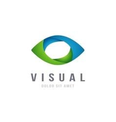 Eye Logo abstract colorful design template vector image