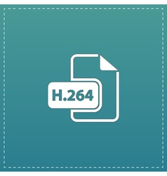 H264 video file extension icon vector image