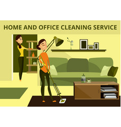 home and office cleaning service concept vector image vector image