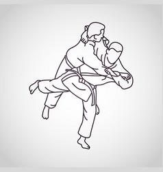 judo logo icon vector image vector image