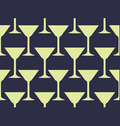 seamless pattern with a martini glass vector image vector image