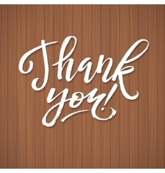 Thank You Card Calligraphic Inscription Ink vector image vector image