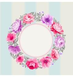 Flower garland vector