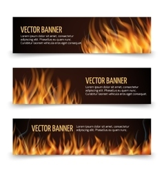 Hot fire advertisement horizontal banners vector image vector image