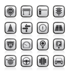 Road and traffic icons vector