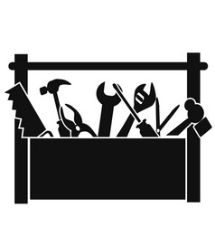 black tools box vector image