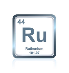 chemical element ruthenium from the periodic table vector image