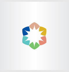 logo star colorful symbol element sign vector image