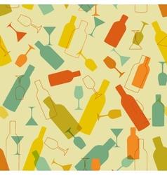 Restaurant or wine bar menu design Seamless vector image vector image