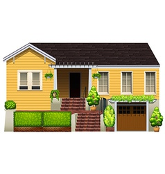 A big yellow house vector image