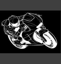 A motorcycle racer sport vector