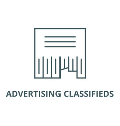 Advertising classifieds line icon vector