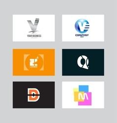 Alphabet letter icon logo set vector