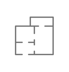 apartment map house project floor plan line icon vector image