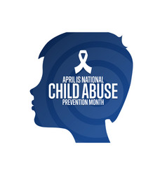 April is national child abuse prevention month vector