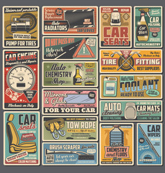 Auto service car repair and tuning spare parts vector