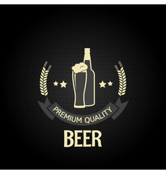 beer bottle glass design background vector image