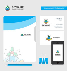 bells business logo file cover visiting card and vector image
