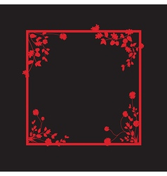 black and red floral box vector image