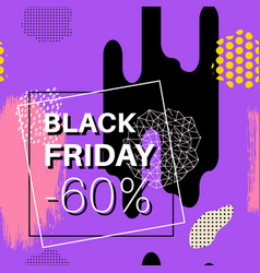 black friday sale banner for online shopping with vector image