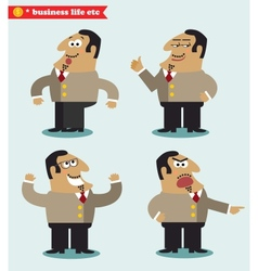 Boss emotions in poses vector image
