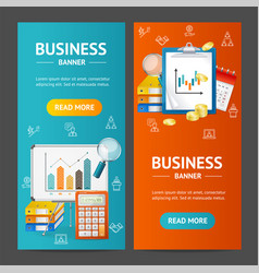 business banner vecrtical set vector image