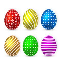 color easter egg on white background easter egg vector image