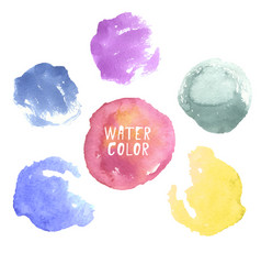 colorful hand drawn watercolor circles vector image