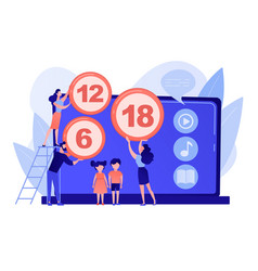 Content rating system concept vector