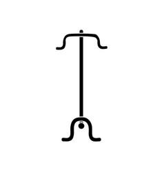 Contour coat rack object to clothes hanger vector
