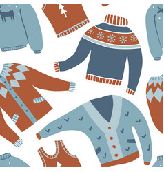 cozy winter seamless pattern vector image