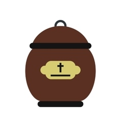 Cremation urn icon vector
