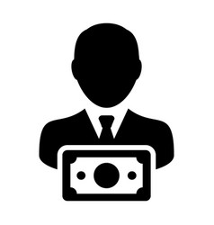 currency icon male user person profile avatar sign vector image