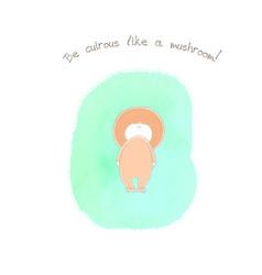 Cute funny mushroom vector