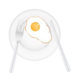 Dinner plate vector image