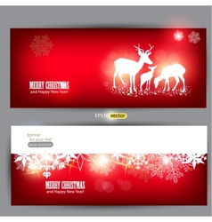 Elegant christmas banners vector