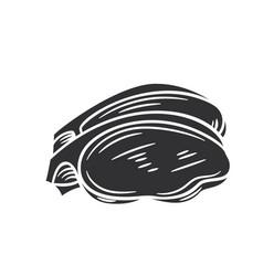 Entrecote glyph icon vector