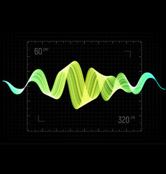 Equalizer abstract wave icon vector