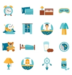 Flat Icons Sleep Time vector image