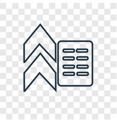 Flow concept linear icon isolated on transparent vector