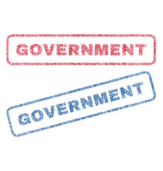 Government textile stamps vector