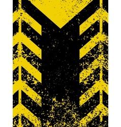 grungy worn hazard stripe vector image