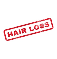 Hair Loss Text Rubber Stamp vector image