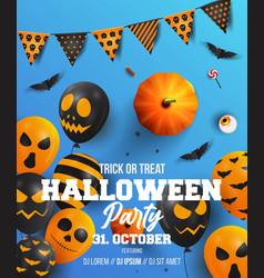 halloween poster design 3 vector image