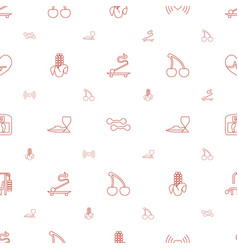 Healthy icons pattern seamless white background vector