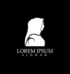 Hijab logo black background app vector