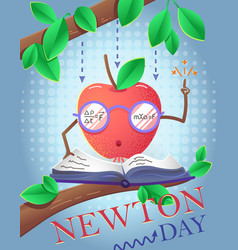 Holiday banner newton day vector