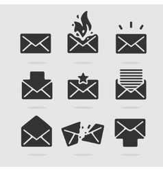Icon Set Mail vector image