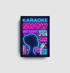 karaoke design poster karaoke party design vector image